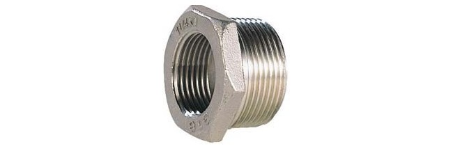 Réduction M/F Hexa. Inox 316L